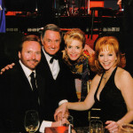 Reba, her husband Narvel Blackstock and the Sedakas