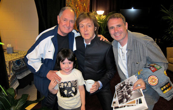 Paul McCartney with Neil and Family